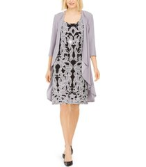 r & m richards draped jacket & necklace dress