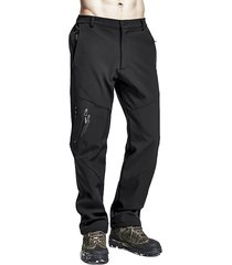mens outdoor asciugatura rapida elastic bottom soild colore casual pantaloni