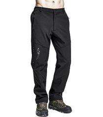 mens outdoor asciugatura rapida elastic bottom soild colore casual pantaloni