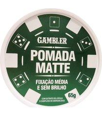 pomada efeito matte média fixação 65g gambler