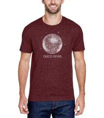men's premium blend word art disco ball t-shirt