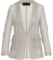 fabiana filippi mesh jacket with sequins