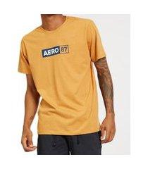 camiseta aeropostale manga curta masculina plus size 8740111ps amarelo