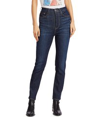 re/done women's ultra high-rise skinny ankle jeans - worn heritage - size 24 (0)