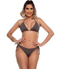 biquini cortininha ripple trabalhado total black maré brasil feminino - feminino