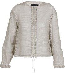 fabiana filippi net jacket with sequins