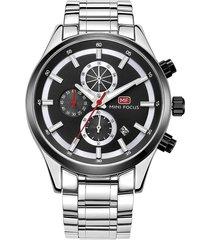 reloj análogo f0081g-1 hombre negro