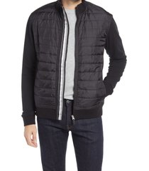 men's robert graham autodrive quilted jacket, size small - black