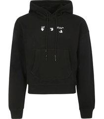 off-white offf over flatlock hoodie