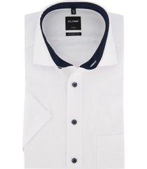 korte mouwen overhemd olymp modern fit wit