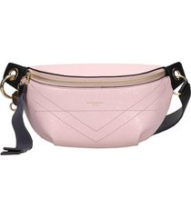 givenchy id belt waist bag in rose-pink leather