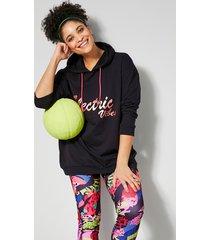 sweatshirt janet & joyce zwart::pink