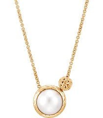 classic chain' freshwater pearl 18k yellow gold necklace