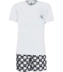 pyjama's / nachthemden calvin klein jeans ss short set
