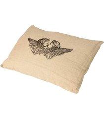 almofada decorativa de linho com enchimento anjo iii