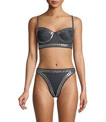 studded underwire bikini top