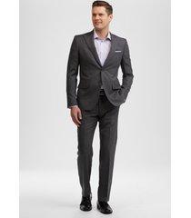 jos. a. bank men's reserve collection slim fit stripe suit clearance, charcoal, 40 long