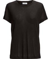 siff tee 6136 t-shirts & tops short-sleeved svart samsøe samsøe