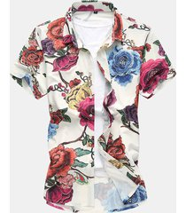 camicia mare hawaiana in cotone