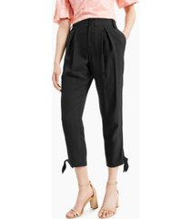 inc tapered tie-hem pants, created for macy's