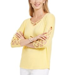 jm collection ladder-sleeve top, created for macy's