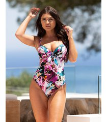 orchid luxe padded wired one-piece swimsuit