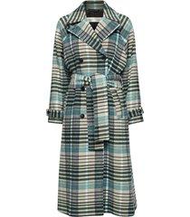 zettaiw raglan coat wollen jas lange jas blauw inwear