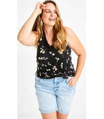 maurices plus size womens vintage light wash destructed 8in bermuda shorts blue