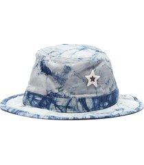 'shadow' ceramic star tie-dye bucket hat