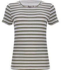 camiseta mujer m/c a rayas color amarillo, talla l