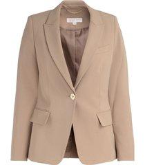 derby blazer in camel fabric