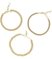 ettika classical 18k gold trio women's bracelet set