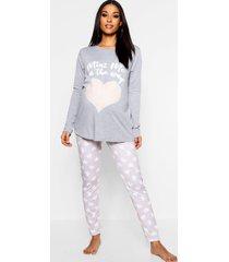zwangerschap mini me pyjama, grijs