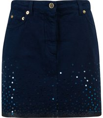 alberta ferretti embellished short skirt