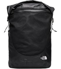 waterproof rolltop rugzak tas zwart the north face