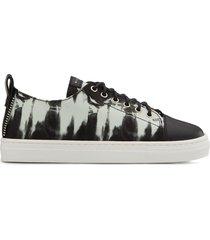 giuseppe junior low top tie-dye print sneakers - black