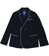 fay blue blazer with white details