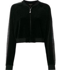 juicy couture exclusive swarovski embellished velour crop jacket -