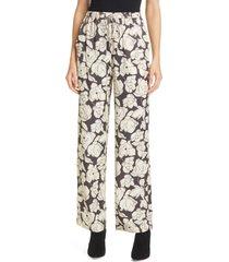 women's nanushka tupsa floral drawstring pants, size large - white