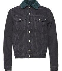 d-gioc-fur jacket jeansjacka denimjacka blå diesel men