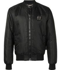philipp plein scarface bomber jacket - black