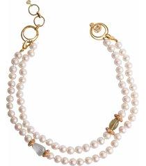 2-in-1 fresh mother of pearl, aqua, pink opal & lemon quartz necklace