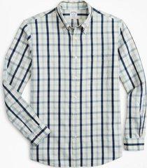 camisa regent fit indigo azul brooks brothers