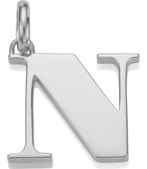 alphabet pendant n, sterling silver
