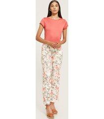 pantalón clásico estampado floral-4