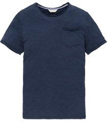 cast iron t-shirt donkerblauw ronde hals