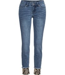jeans skinny con inserto pitonato (blu) - rainbow