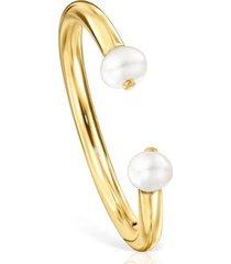 tous anillo batala de plata vermeil con perla 918545540
