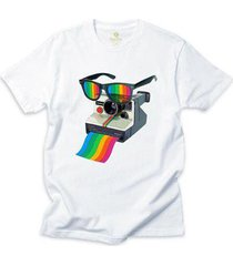 camiseta cool tees camera pride vision - masculino