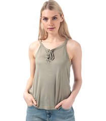 brave soul womens lace up vest size 16 in green